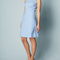 Square jacquard dress (cloud)