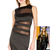 Mesh Panelled Bodycon Dress in the style of Jennifer Lopez