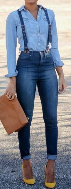jeans blue jumpsuit blue jeans