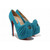 Sky Blue Christian Louboutin 20 Years Lady Gres 160mm Suede Pumps Red Sole Shoes