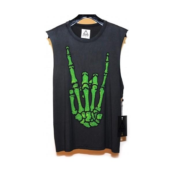 Hail skeleton rock on muscle shirt tank - Polyvore