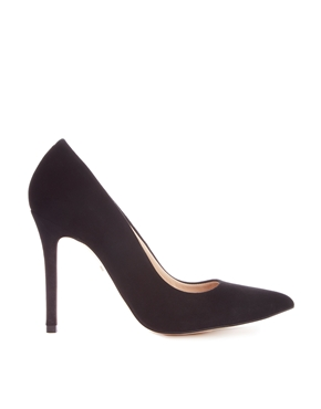 Whistles | Whistles French 65 Black Suede Court Shoes at ASOS