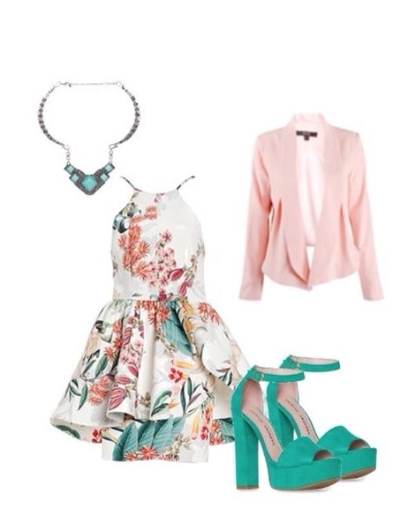 shoes green high heels dress