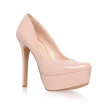 Nude 'Waleo' high heel platform court shoes at debenhams.com on Wanelo