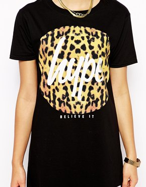 Hype | Hype T-Shirt Dress With Leopard Logo at ASOS