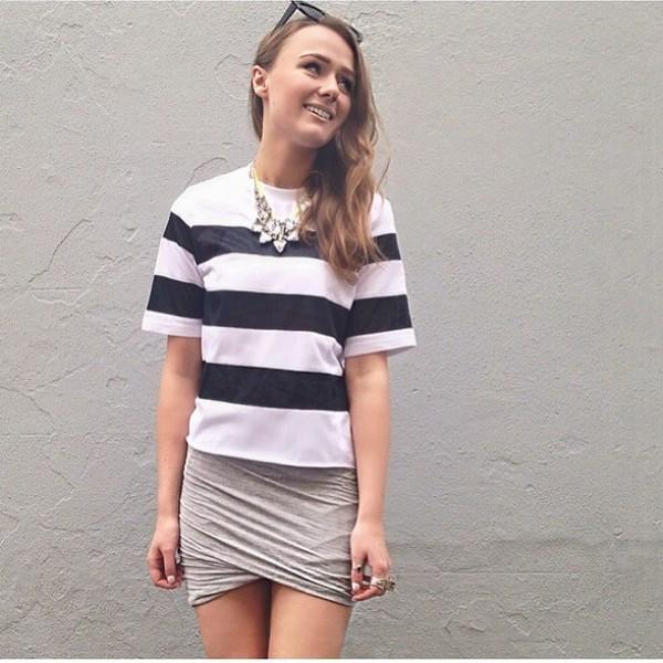 skirt ruffle grey bandeau