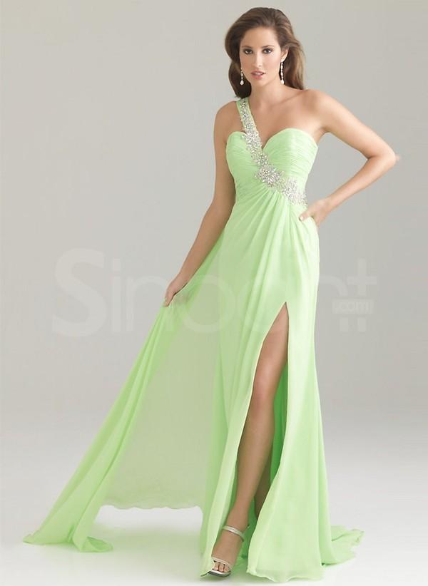dress dramatic colour homecoming one-shoulder empire waist