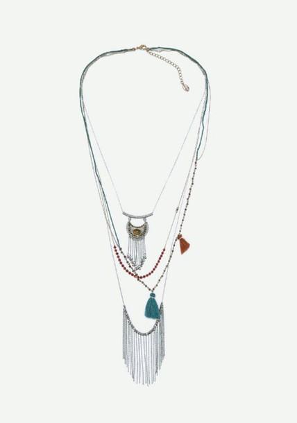jewels boho metal necklace