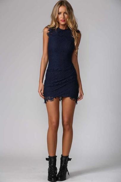 dress navy dress
