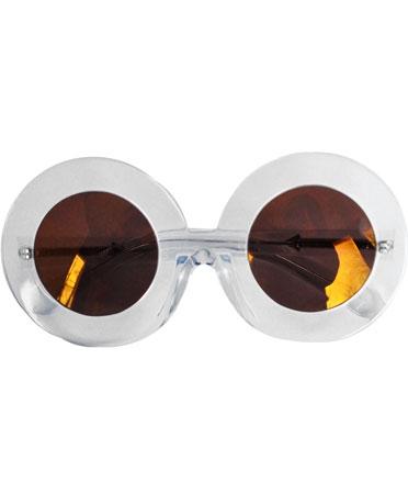 Karen Walker Round Crystal Clear Sunglasses