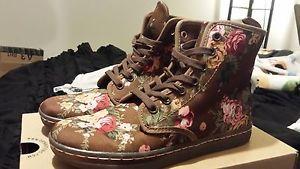 Dr Martens Doc Martens Victorian Flowers Floral Brown Boots US 6 | eBay