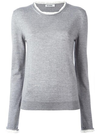jumper women silk wool grey sweater