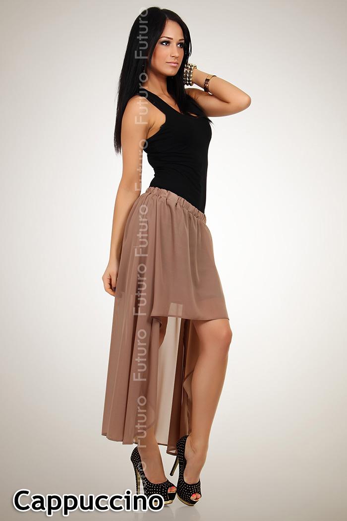 ☼ Lovely Flippy Asymmetrical Skirt ☼ Lining Chiffon Holiday Beach Size 8-12 FA16 | eBay