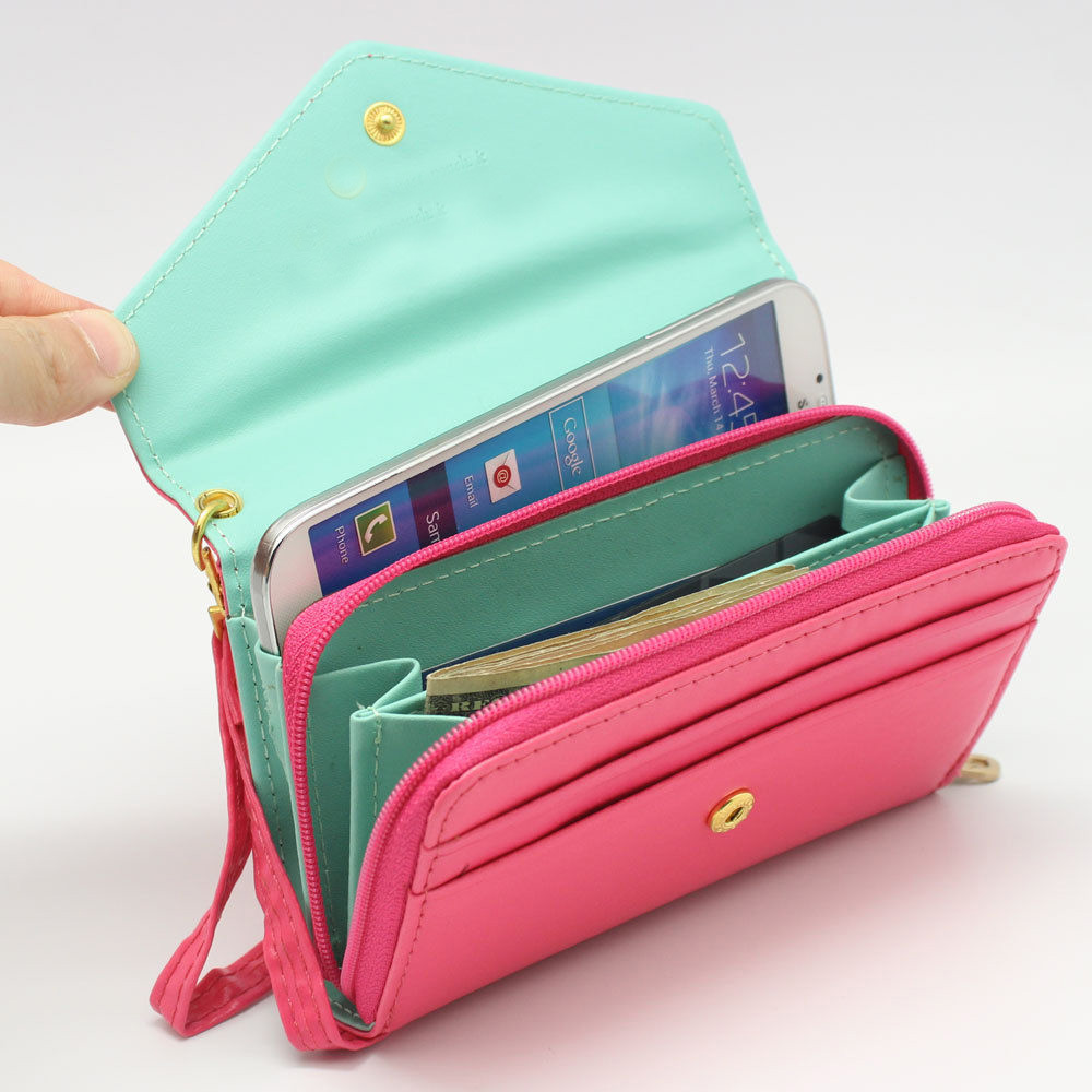 PU Leather Flip Card Wallet Purse Phone Case Cover for iPhone 4 5 Samsung S4 S3 | eBay