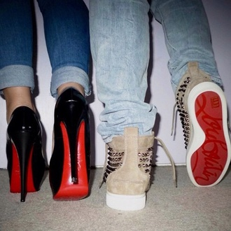 shoes high heels sneakers louboutin