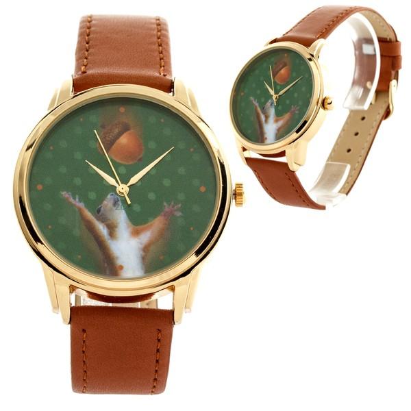 jewels squirrel nut brown watch watch ziz watch ziziztime