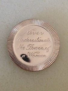 Vintage Never Underestimate THE Power OF A Woman PIN | eBay
