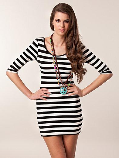 Stripe Detail Dress - Club L - Striped - Dresses - Clothing - Women - Nelly.com Uk