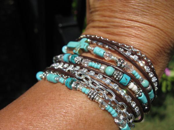 jewels leather wraps boho