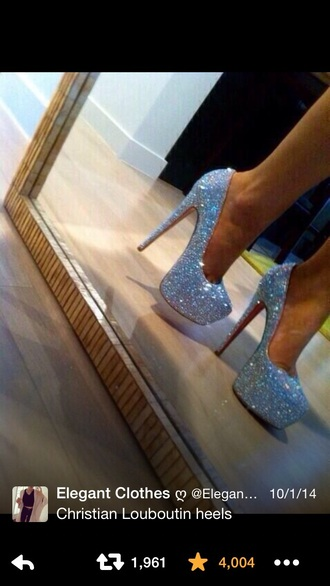 shoes louboutin christian louboutin shoes sparkly shoes heels sparkle sparkly heels