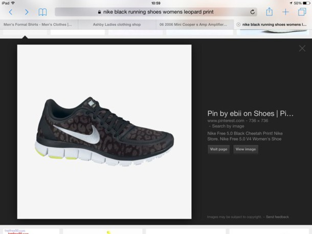 shoes black leopard print nike free run