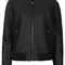 Faux leather croc bomber - jackets & coats  - clothing  - topshop