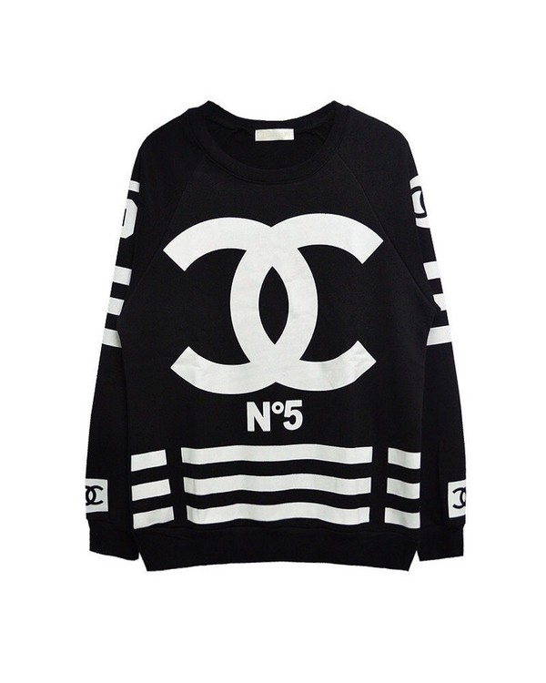 sweater chanel no. 5 pants flowers shirt chanel t-shirt coco chanel sweater chanel chanel n.5 jersey chanel top chanel sweater chanel black chanel inspired no. 5 wolftyla for boys top black chanel cc sweater white black and white i4out look lookbook sweatshirt chanel coco no 5 femme chanel