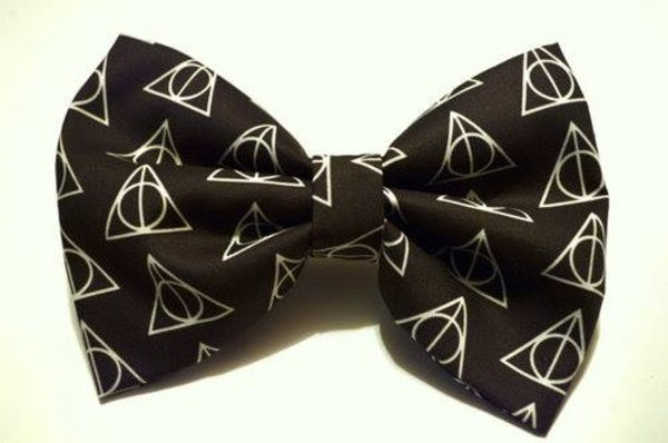 jewels hair bow bows harry potter harry potter and the deathly hallows black