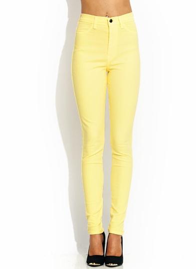 high-waisted-jeans BANANA NEONGREEN NEONORANGE NEONYLLW ROYAL - GoJane.com