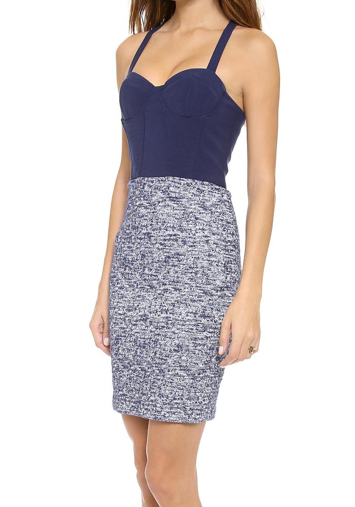 Alice   Olivia Dixie Cutout Back Bustier Dress / TheFashionMRKT