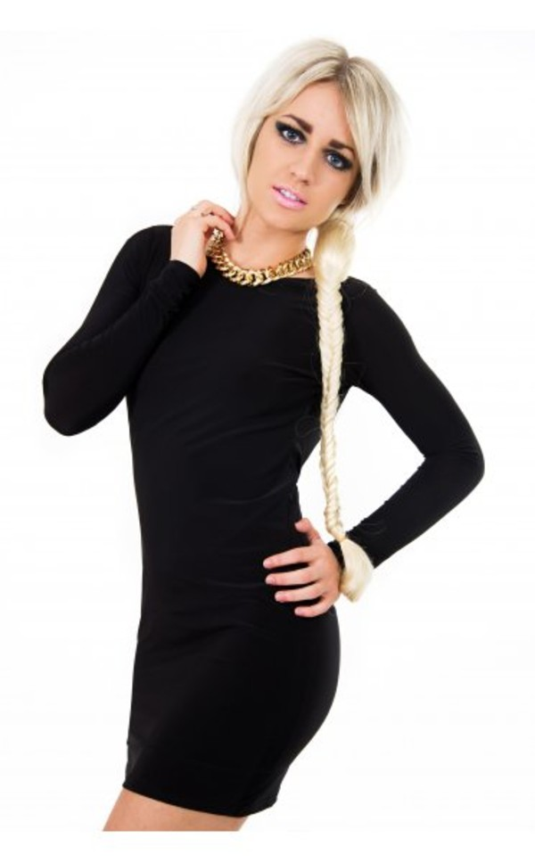 dress little black dress bodycon dress tight black dress bodycon long sleeve dress