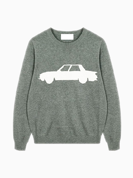 The Car Sweater In Gray   Choies