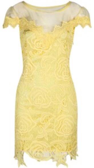 dress yellow dress summer dress cocktail dress lace lace dress yellow lace mesh yellow summer dress