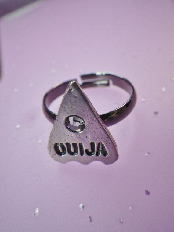 Ouija ring adjustable by lotusfairy on Etsy