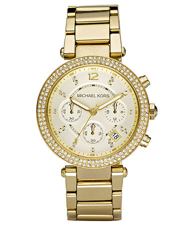 Michael Kors Women's Chronograph Parker Gold Ion Plated Stainless Steel Bracelet Watch 39mm MK5354 - Watches - Jewelry & Watches - Macy's