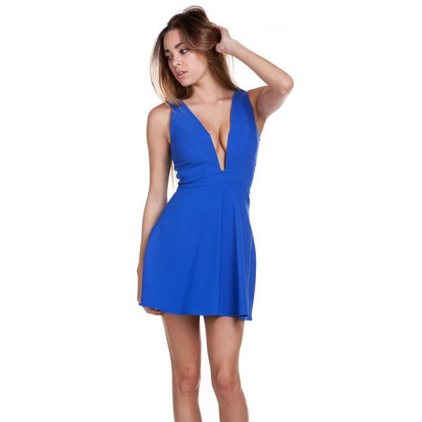 dress total babe royal blue mini fashion makeup table vanity row party chic dress to kill