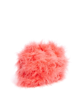 River Island   River Island Coral Feather Cross Body Bag at ASOS