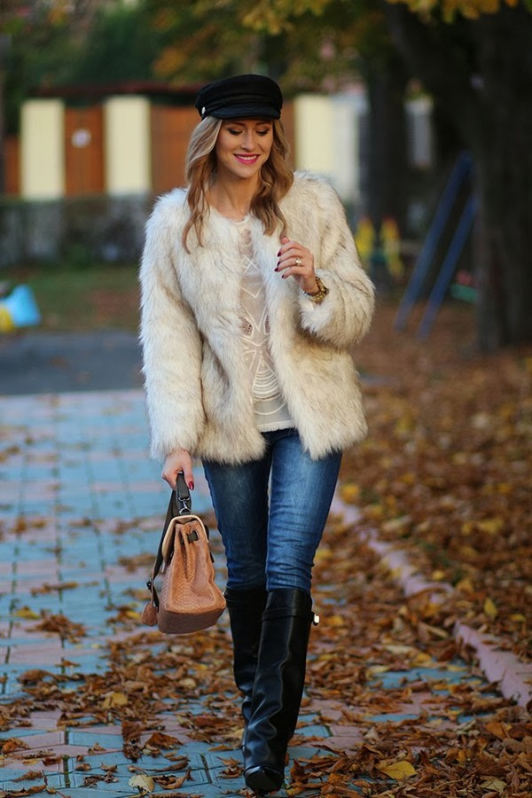fashion spot coat shoes bag jeans hat