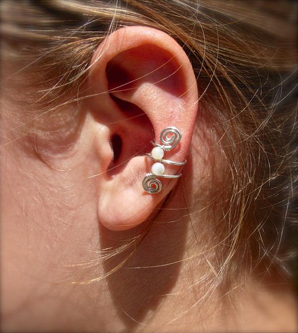 jewels ear cuff ear cuff silver pearl earrings