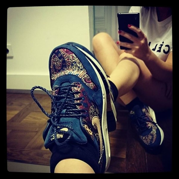 shoes nike air max blue colorful