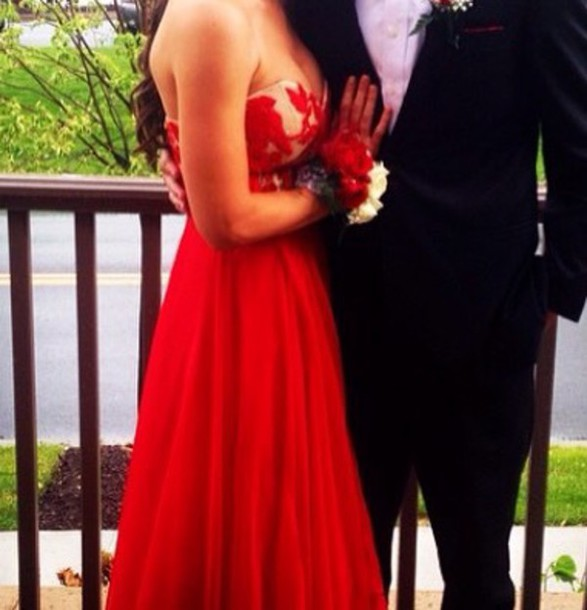 dress red dress red prom dress prom gown