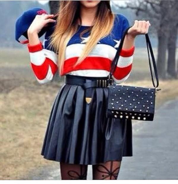 blouse skirt cute