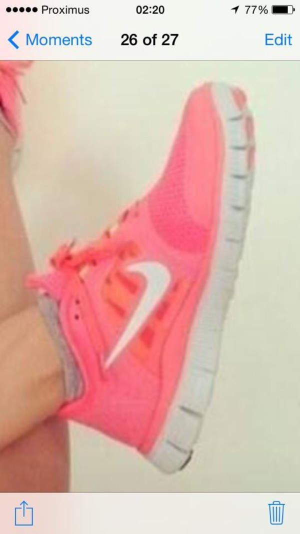 shoes nike nike free run sneakers pink orange nike free run neon pink nike free run neon pink womens yourderry.com