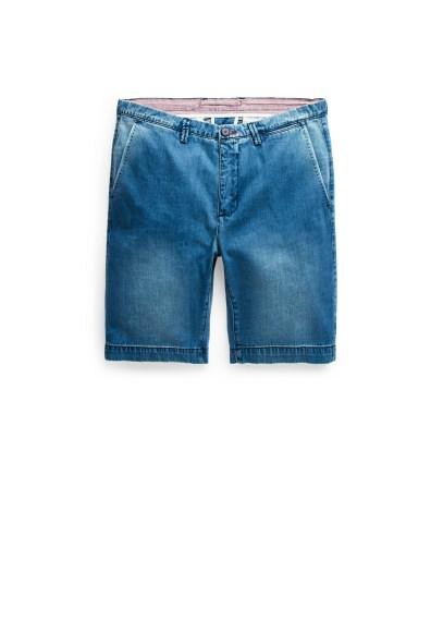 dark denim bermuda shorts