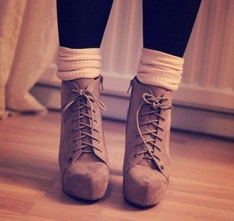 shoes heeled shoes beige shoes suede boots socks suede heels laced