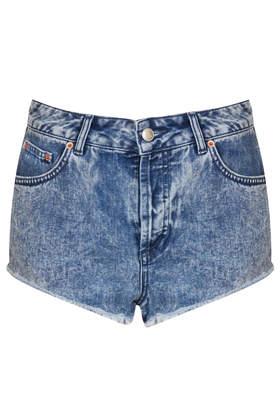 MOTO Brooke Acid Denim Hotpants - Shorts  - Clothing  - Topshop