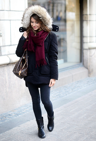 mariannan coat scarf bag shoes jewels