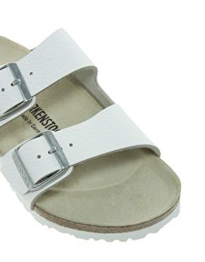 Birkenstock | Birkenstock Arizona White Leather Two Strap Sandals at ASOS