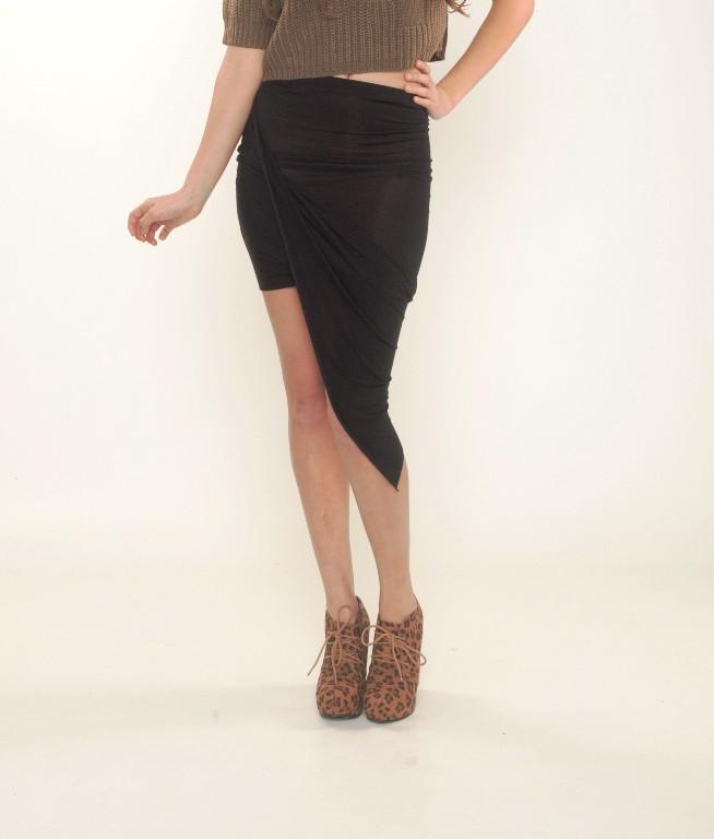 Draped Asymmetrical Skirt | Affordable Junior Clothing & Plus Sized Dresses | Shimmer