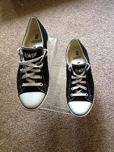 642 Converse All Star Chuck Taylor Ox Black White Trainers Shoes Size UK 6 | eBay